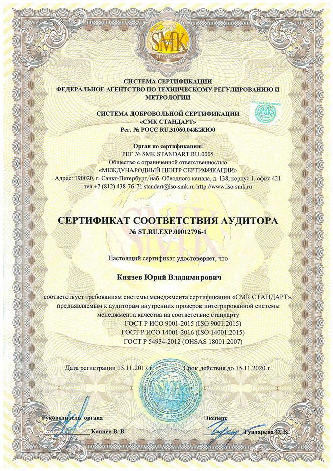 Сертификат аудитора
